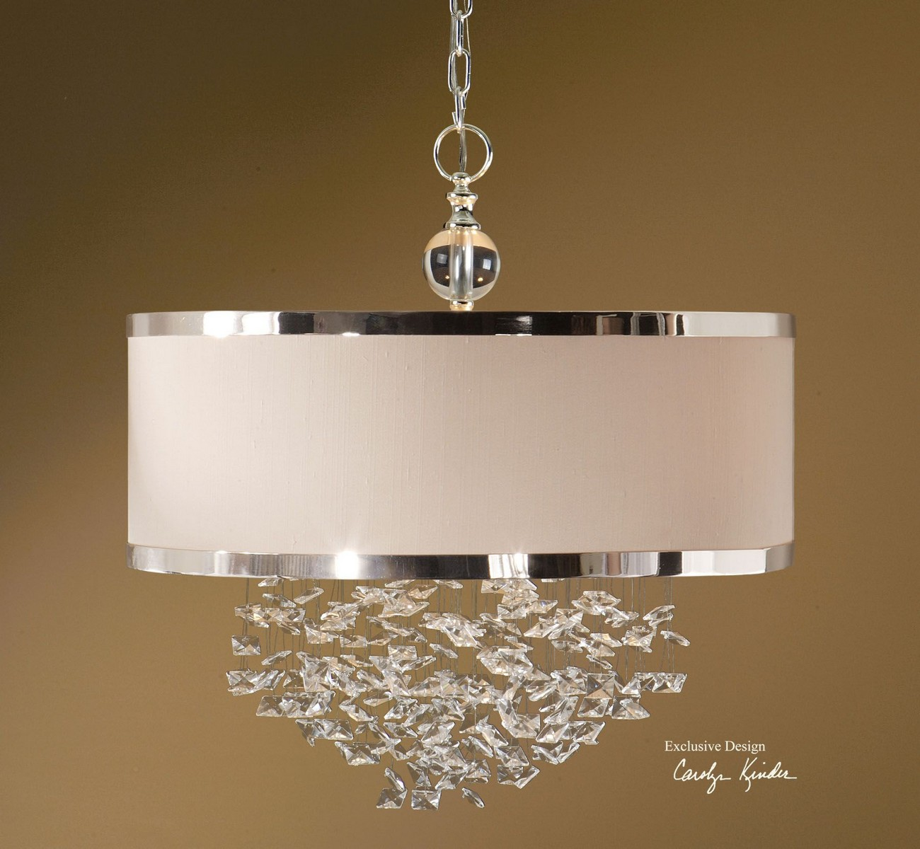 Uttermost Fascination 3 Light Slken Drum Pendant