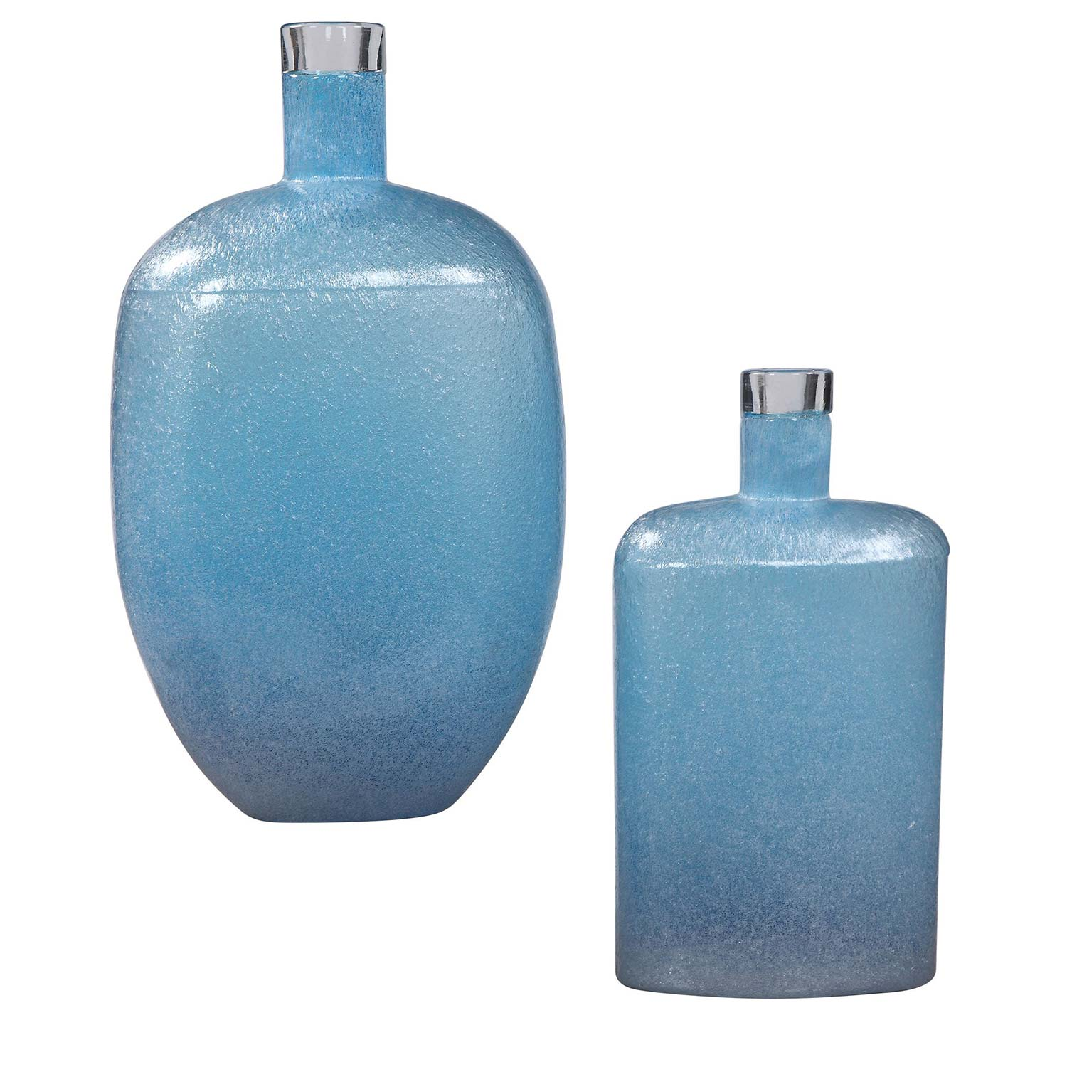 Uttermost Suvi Glass Vases - Set of 2 - Blue