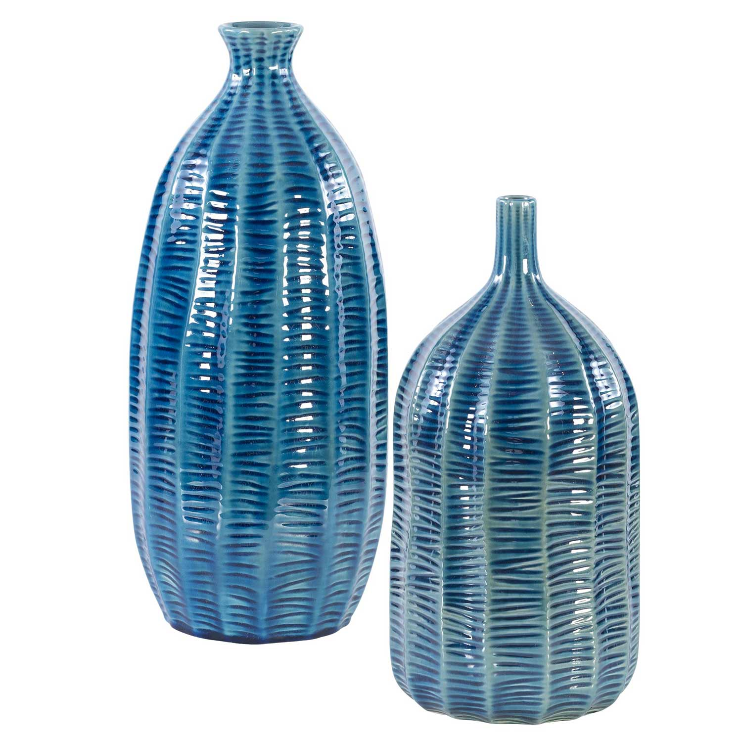 Uttermost Bixby Vases - Set of 2 - Blue