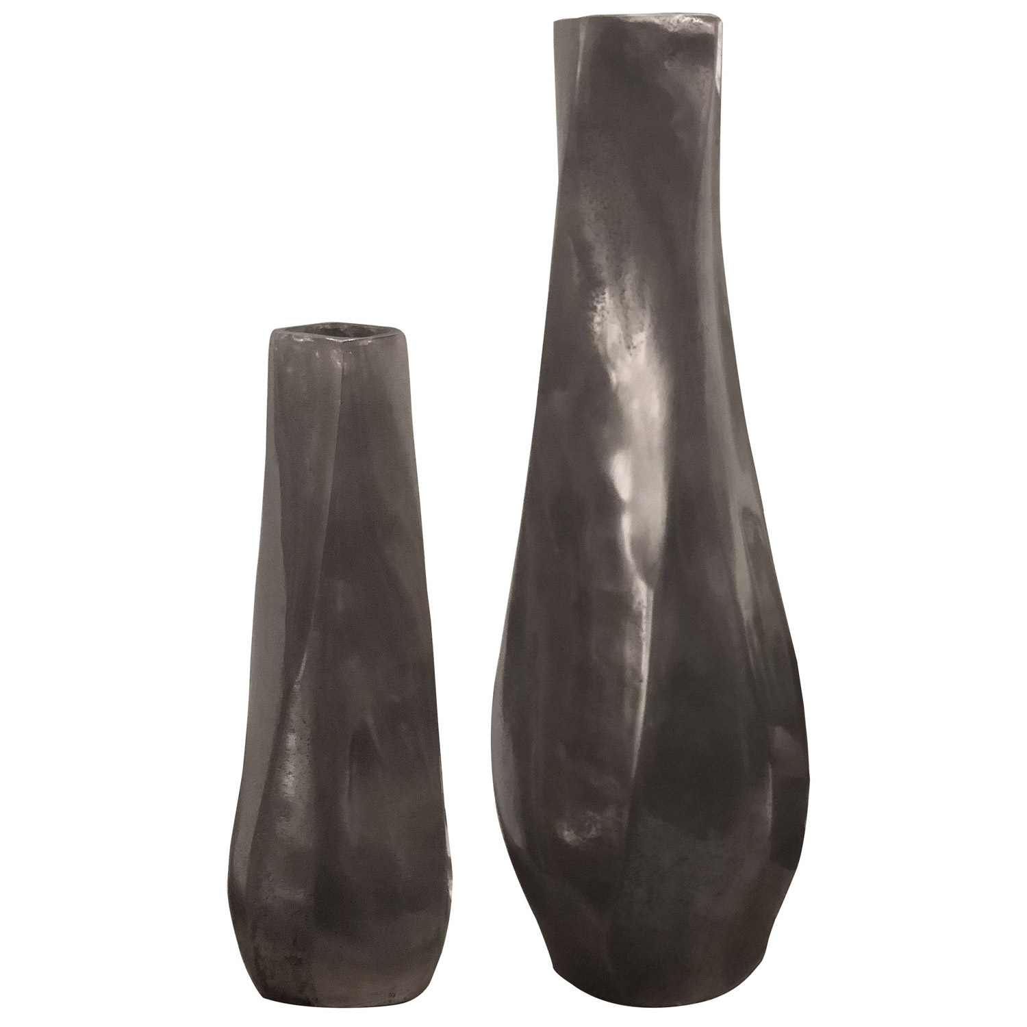Uttermost Noa Dark Nickel Vases - Set of 2