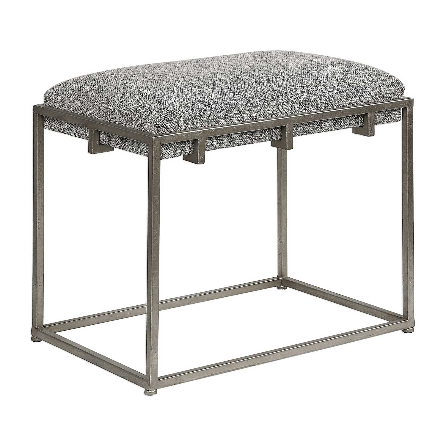 Uttermost Edie Small Bench - Silver