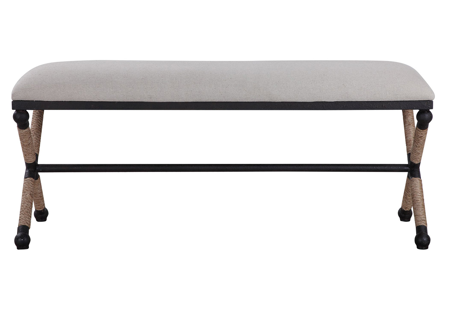 Uttermost Firth Bench - Oatmeal
