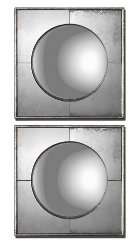 Champagne Silver Mirror - Set of 2