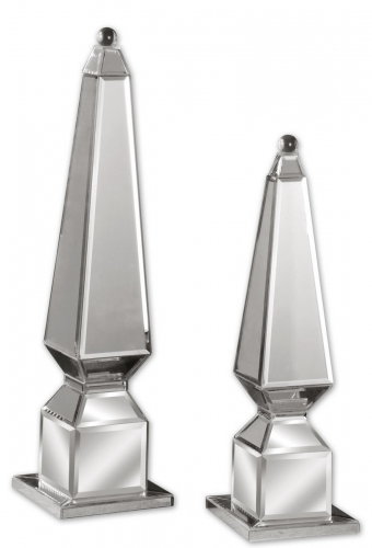 Alanna Mirrored Finials - Set of 2