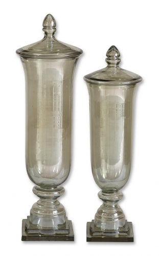 Gilli Glass Decorative Containers - Set of 2