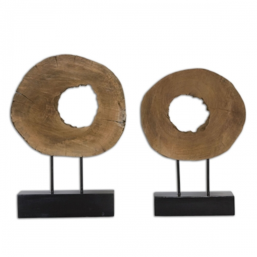 Ashlea Wooden Sculptures - Set of 2