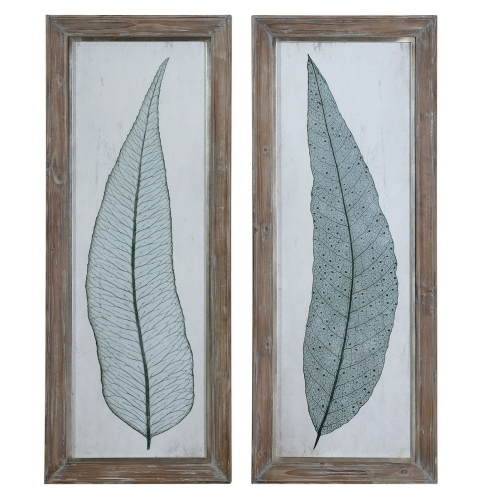 Tall Leaves Framed Art - Set of 2