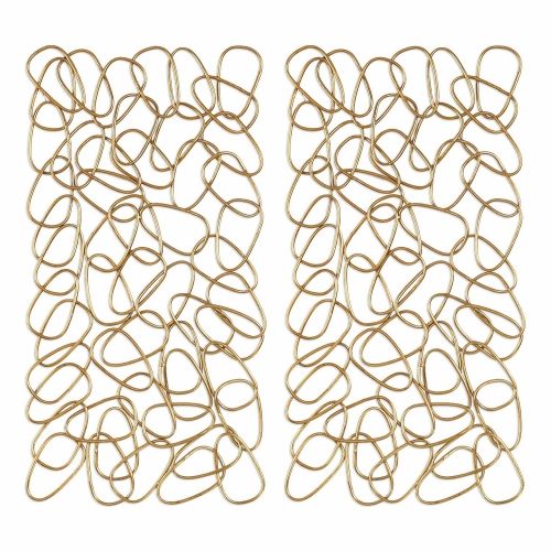 In the Loop Gold Wall Art - Set of 2