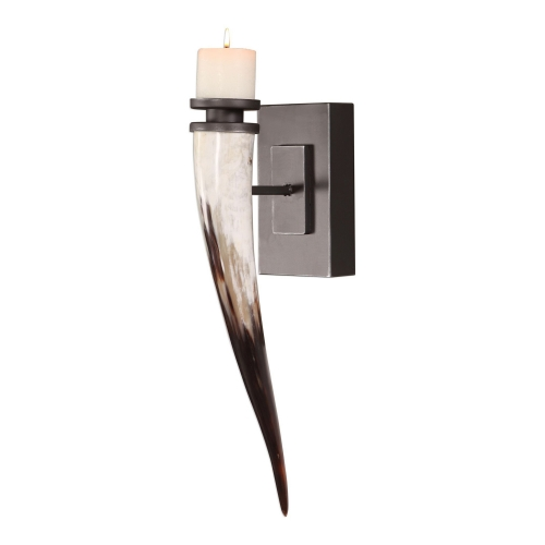 Romany Horn Candle Sconce