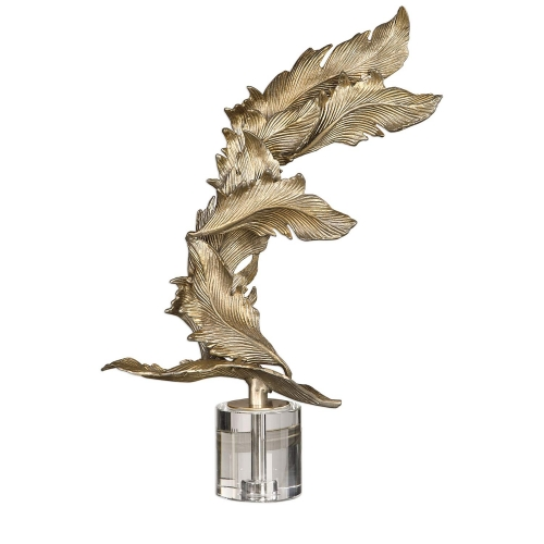 Fall Leaves Sculpture - Champagne
