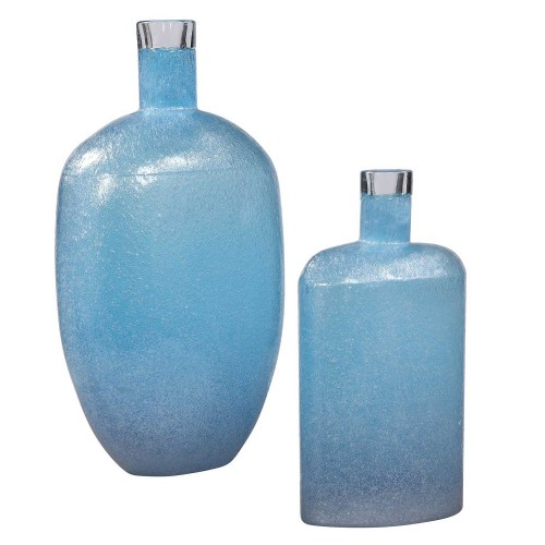 Suvi Glass Vases - Set of 2 - Blue
