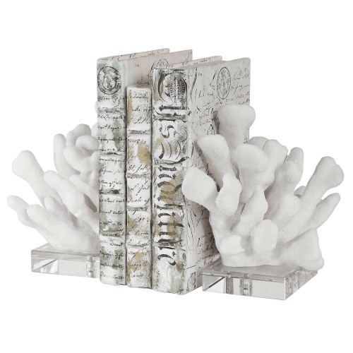 Charbel Bookends - Set of 2 - White