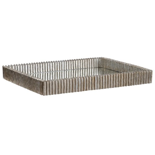 Talmage Mirrored Tray - Silver