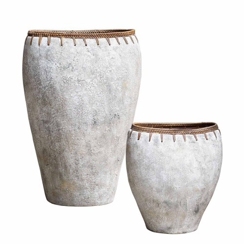 Dua Terracotta Vases - Set of 2