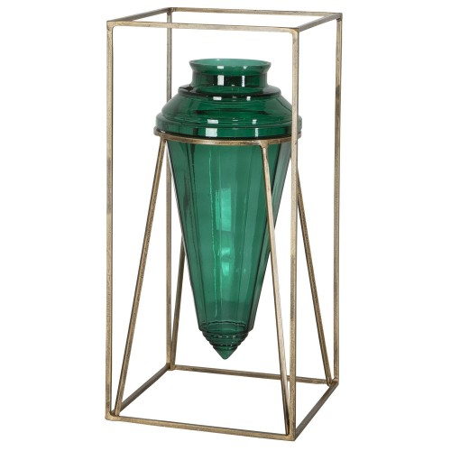 Ariga Vase - Emerald Green