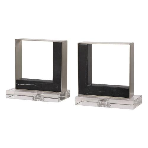 Tilman Modern Bookends - Set of 2 - Marble