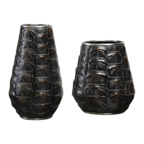 Kapil Tortoise Shell Vases - Set of 2