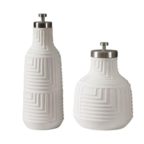 Chandran Containers - Set of 2 - Matte White