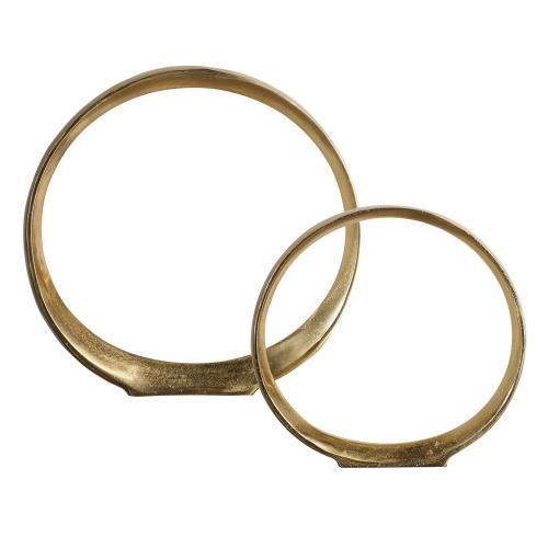 Jimena Ring Sculptures - Set of 2 - Gold
