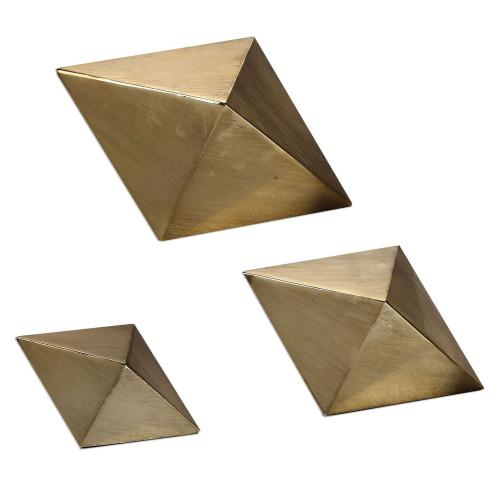 Rhombus Accents - Set of 3 - Champagne