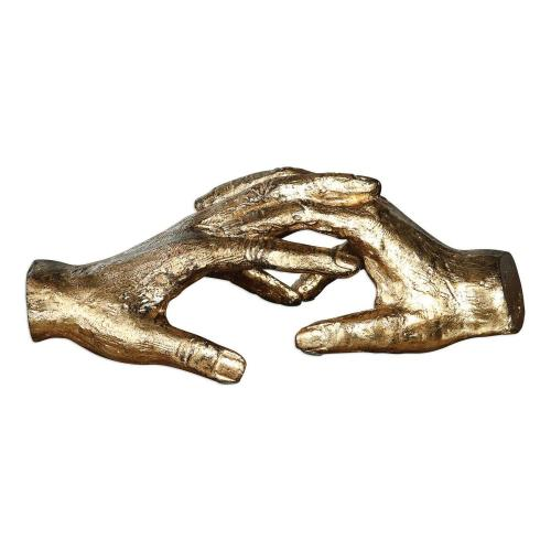 Hold My Hand Gold Sculpture