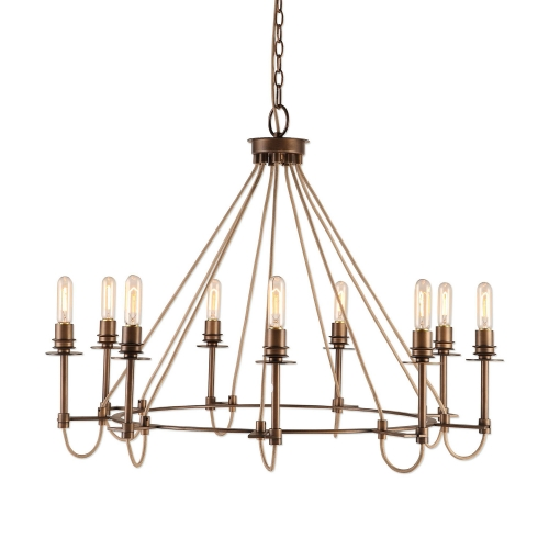 Lyndhurst Industrial 9 Light Chandelier