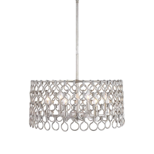 Maille 6-Light Pendant - Silver