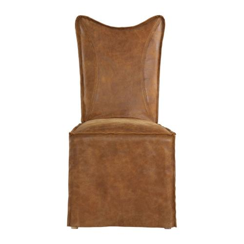 Delroy Armless Chairs - Set of 2 - Cognac