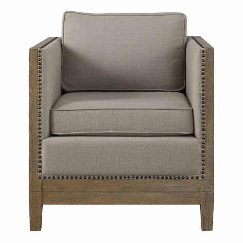 Kyle Accent Chair - Weathered Oak