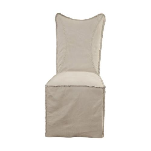 Delroy Armless Chairs - Set of 2 - Stone Ivory