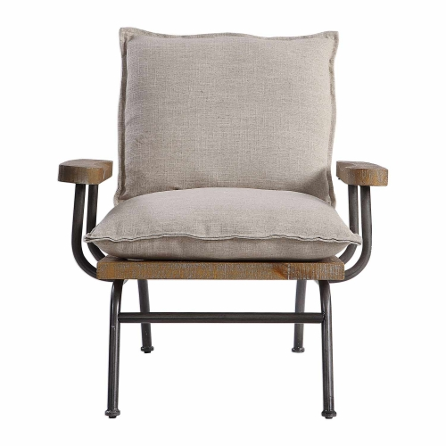Declan Industrial Accent Chair