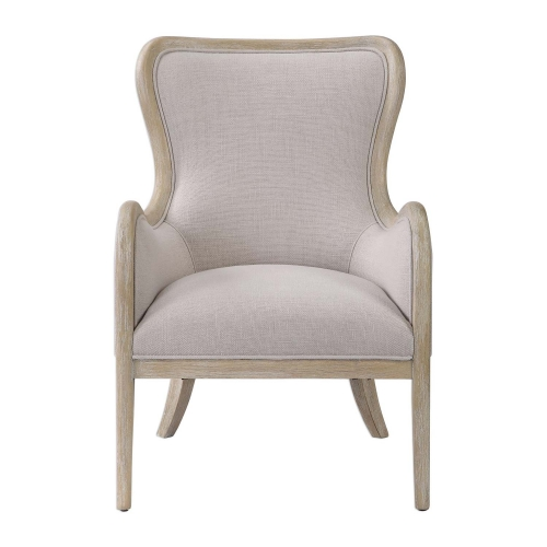 Shantel Wing Chair - Oatmeal Gray