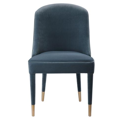 Brie Armless Chair - Set of 2 - Blue
