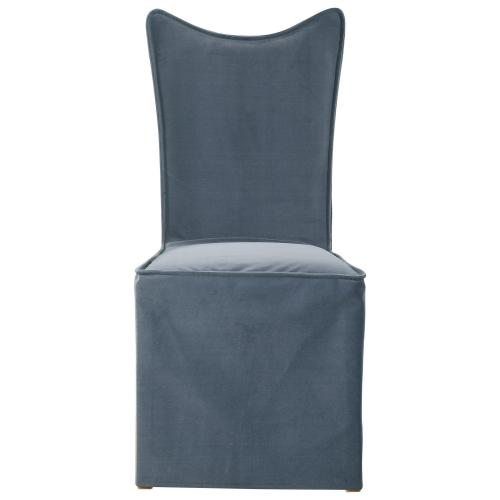 Delroy Armless Chair - Set of 2 - Gray