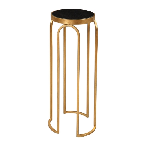 Novalie Accent Table - Gold