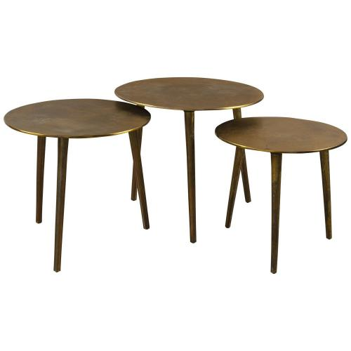 Kasai Coffee Tables - Set of 3 - Gold