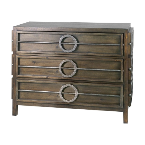 Riley Accent Chest - Weather Walnut