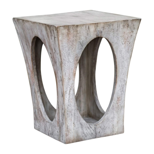 Vernen Accent Table - Aged White