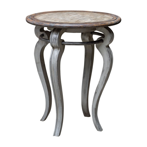 Mariah Round Accent Table - Gray