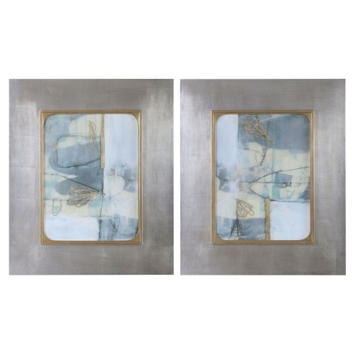 Gilded Whimsy Abstract Prints - Set of 2